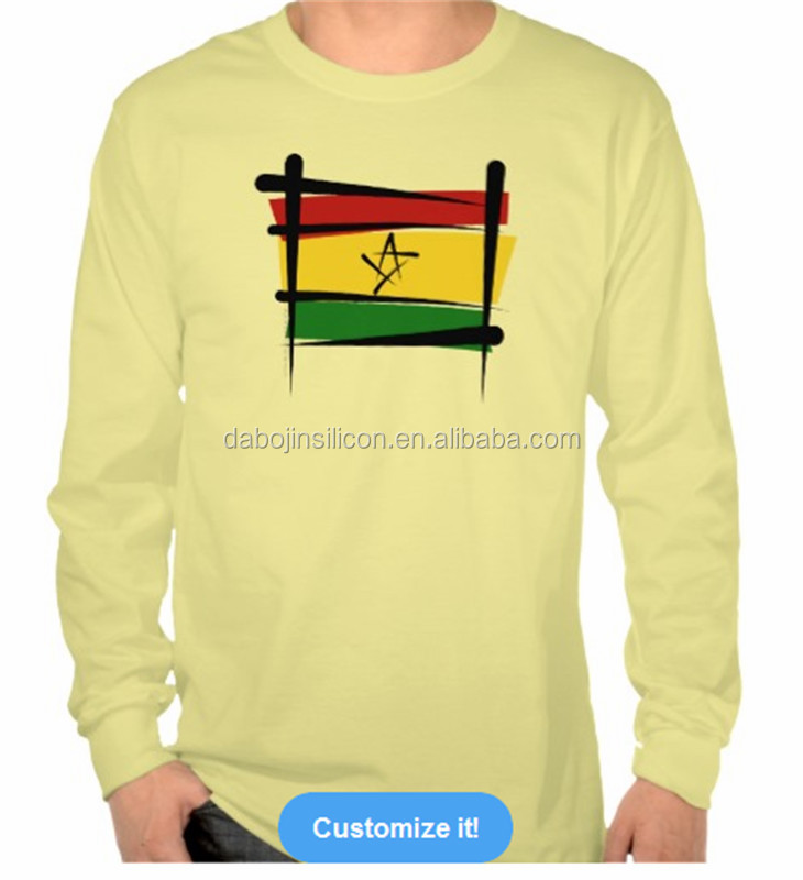 2016 promotion new design sport print Ghana flag T-shirt