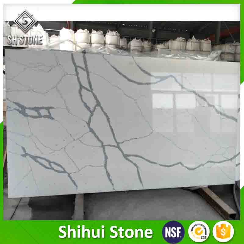 Wholesale Statuary Calacatta White Quartz Stone Slabs For Kitchen Countertop