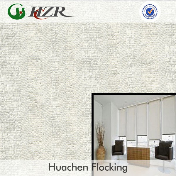2014 home shade blackout striped fabric professional manufacture fire retardant fabric for roll blind