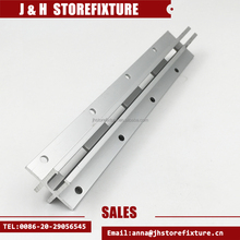 Double Side Slotted Wall Upright Post Single Hole Aluminum Standard