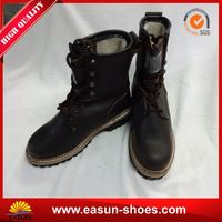 Sheepskin lining logger boots safety logger boots ultra light steel toe cap for safety logger boots