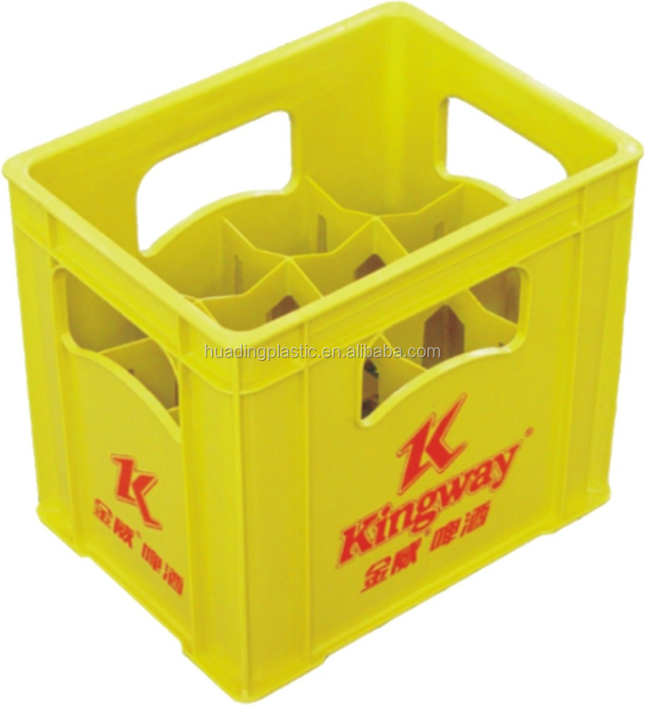 plastic crate for 12pcs beer bottles