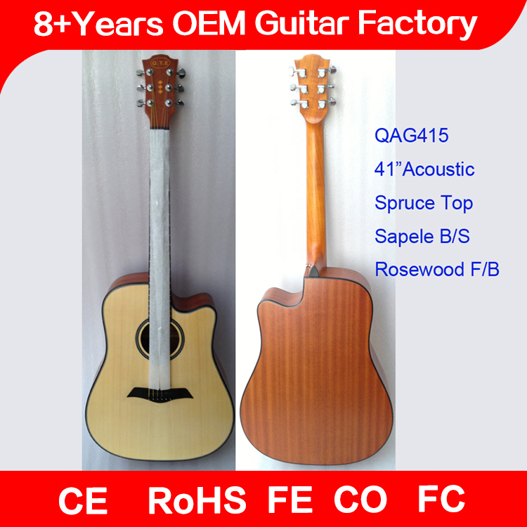 QAG415 lastest oem guitar hot sell to thailand,folk guitar,guangzhou guitar