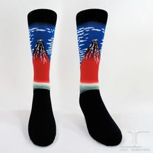 Japanese Masterpieces Red Fuji Crew socks / Ukiyo-e