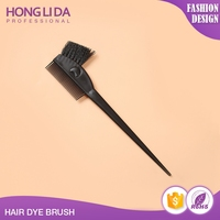 Low price extension dyeing cheap hair black plastic brush