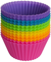 Reusable Round Mini Muffin Cups, FDA Silicone Baking Cups/Silicone Cupcake Liners/Silicone Muffin Cups