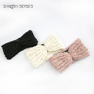 100% Polyester ladies knitted warm headband winter