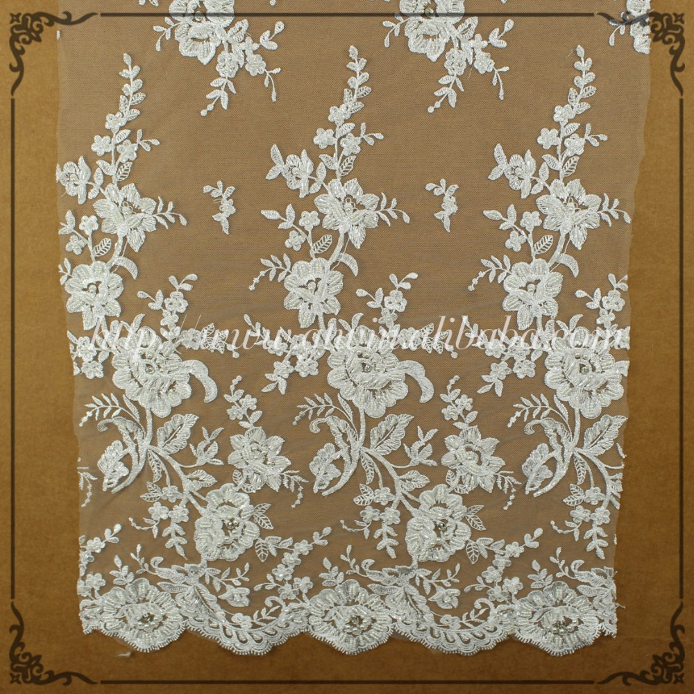Brocade Cheap Lace Fabric for Curtains /Wedding Lace Fabric Wholesale for Garment