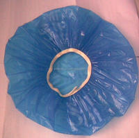 Eco-friendly cheapest disposable PE plastic hat/cover for Hotel one-time bath cap