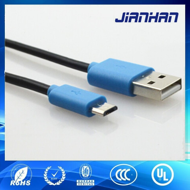 high quality and customized length micro usb 2.0 data cable for mobile phone