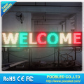 tri color led moving message display sign\programmable led moving signs\high quality adversiting board