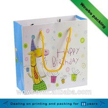 Lovely printed kids birthday gift packaging paper bag