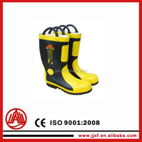 Heat Insulation Slip Resistance Fireman Used Firefighter Boots