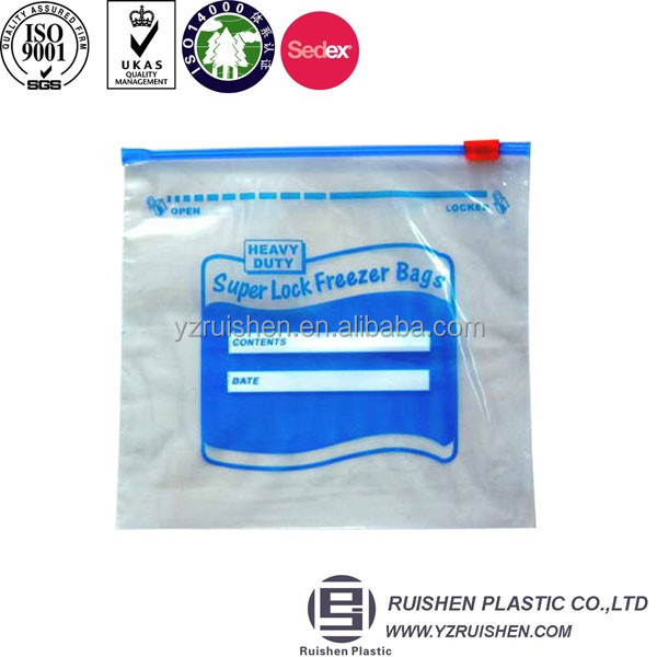 Ziplock Bag Can Be Written, Clear PE Zipper Bag, Slider Bag