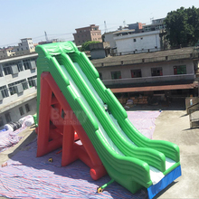 Professional supplier 0.55mm pvc giant inflatable water slide for sale
