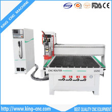 King factory prices 9Kw spindle motor 1325C ATC 3 axis USB2.0 port hobby cnc wood router, wood door making cnc router cutting