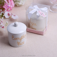 Wedding Bridal Shower baby shower Favors thank you gifts for guests Spice and Everything Nice Ceramic Sugar Bowl pot cup