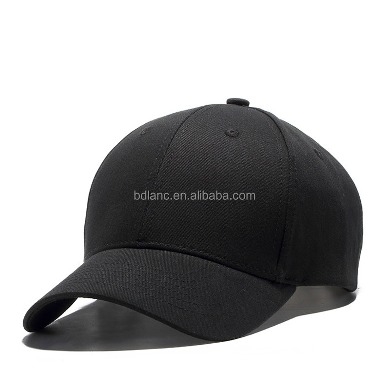 2017 New arrival spot supply outdoor cotton black hats golf baseball <strong>cap</strong> for business men