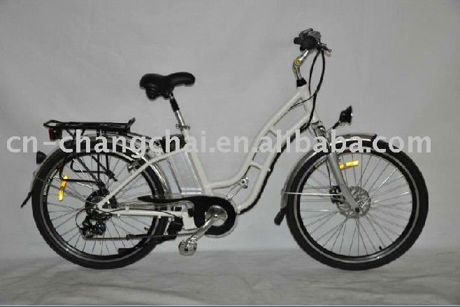 traditional low step through electric bike