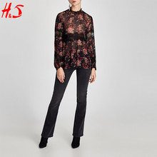 dong guan new arrival african lace designs lace blouse sexy fashion deignes ladies long sleeve blouse of woman
