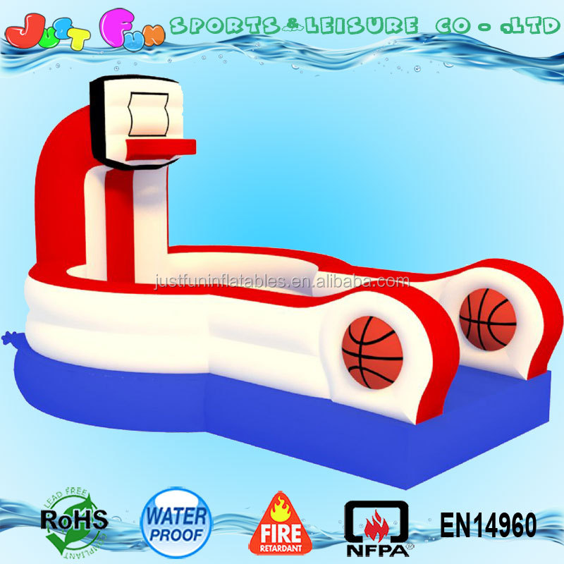 inflatable slam dunk trampoline basketball hoop for sale