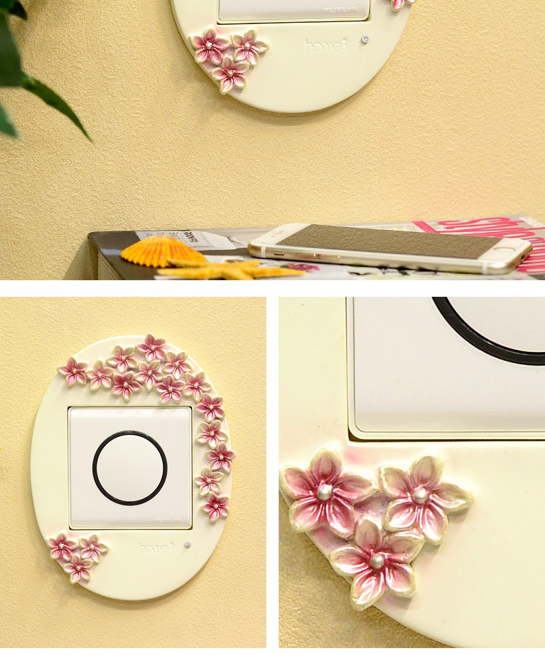 wholesale wall decorative resin 3d wall socket sticker