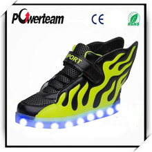 Alibaba Express Flash Sports Shoes Gold Silver Led Shoe For Men And Women