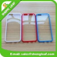 For iPhone 6 S Transparent TPU Bumper Soft Frame Case