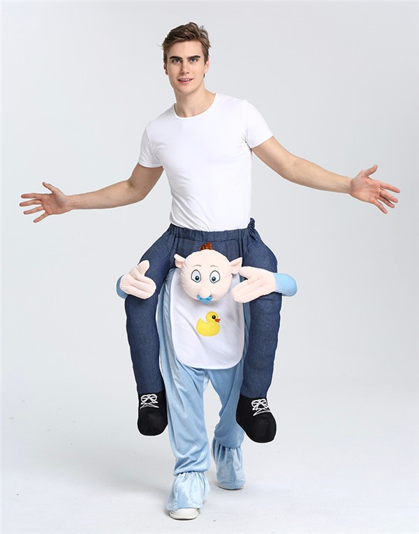 Custom High Quality Adult Costume Carry me Guy On Costume