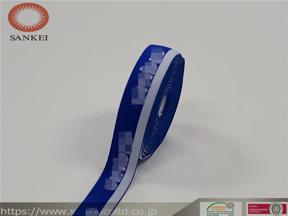 Jacquard elastic band,suitable for different ages use,underwear,pants,baby clothes,sportswear,caps,T- shirts,etc.Blue and White