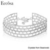 Eccosa Jewelry Fashion Necklaces Rhinestone Multi Layered Choker Made With Crystal From Swarovski