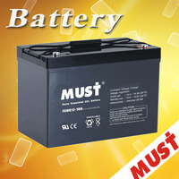 free maintenance deep cycle gel battery 12v 100ah