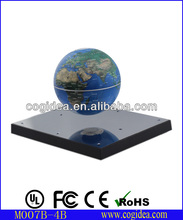 ABS plastic and steel mirror base magnetic floating globe for teaching and novelty gift