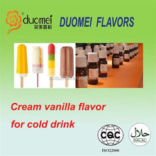 Cream vanilla flavouring concentrate flavor for cold drink
