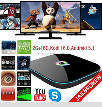 Q-BOX 2GB+16GB 4K Android Smart TV Box Quad Core KODI 16.0 XBMC LIVE TV Add-on