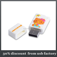 oem 8GB cartoon shape pvc 3.0 usb flash drive