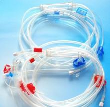 Disposable hemodialysis blood pressure tubing/blood tubing set