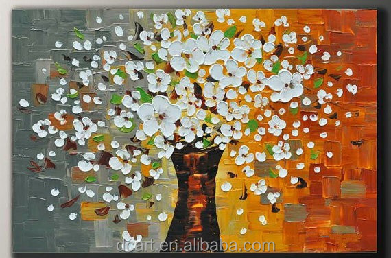 High Texture Wholesale Handmade Flower Knife Oil Painting For Wall Decorative