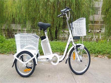 3 wheel cargo electric tricycle for elder/ three wheels electric bike with basket