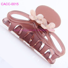 Korean Fancy Flower Cellulose Acetate Clear Claw Hair Clips for Women Girls