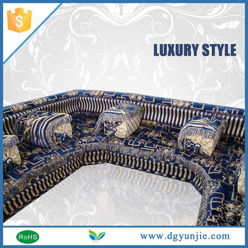 Stock cleaning moroccan indian floor sofa fabric l-shape sofa
