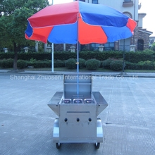 Roadside Selling Food Trailer / Hot Dogs Professional Vending Cart / Hot Dog Selling Vehicle