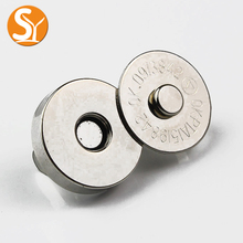 purse accessories 18mm round metal bag parts magnetic button magnetic closure