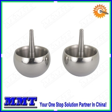 precision cnc lathe turning stainless steel tippy top with mirror polishing surface