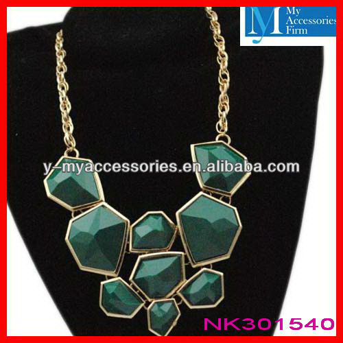 Large beads chunky statement necklace wholesale