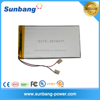 3750159 3.7V 3600mAh china battery manufacturer for Tablet PC / MID / PDA