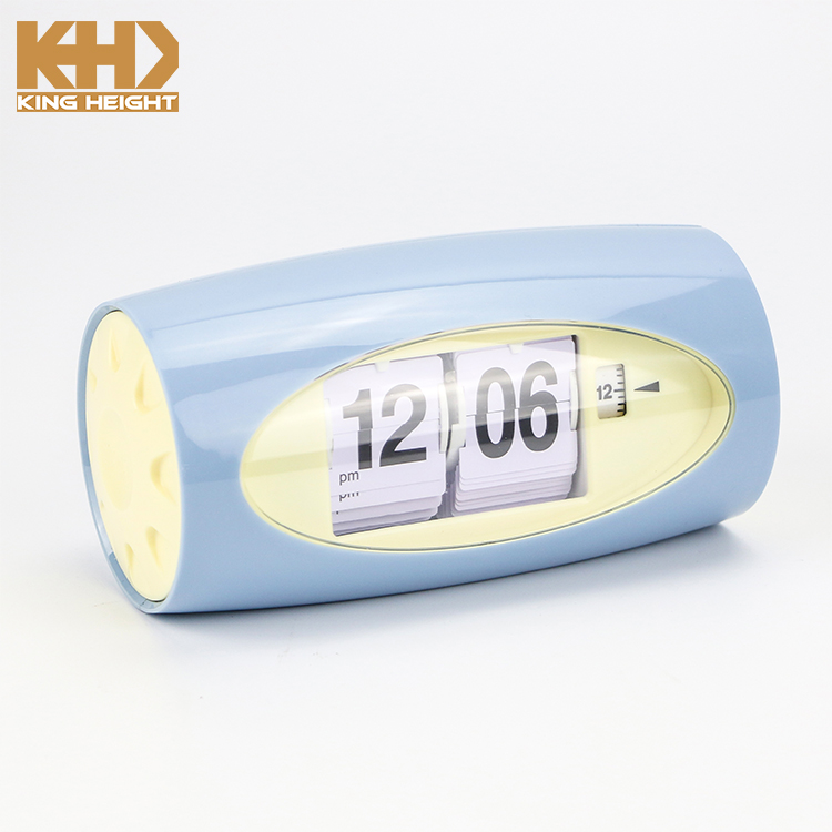KH-0348 Digital Retro File Down Page Auto Flip Desk Table Clock Flip Page Turning Table Clock Calendar