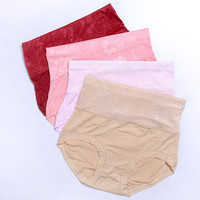 Hot Selling Sexy Front Transparent High Cut Slimming Brief Lace High Waist Women Panties GVFR0005