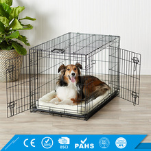 OEM Cage Wire Mesh Kennel for Dogs With Plastic Tray Heavy Duty Dog Crate