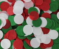 Red Green White Christmas Decoration Paper Confetti